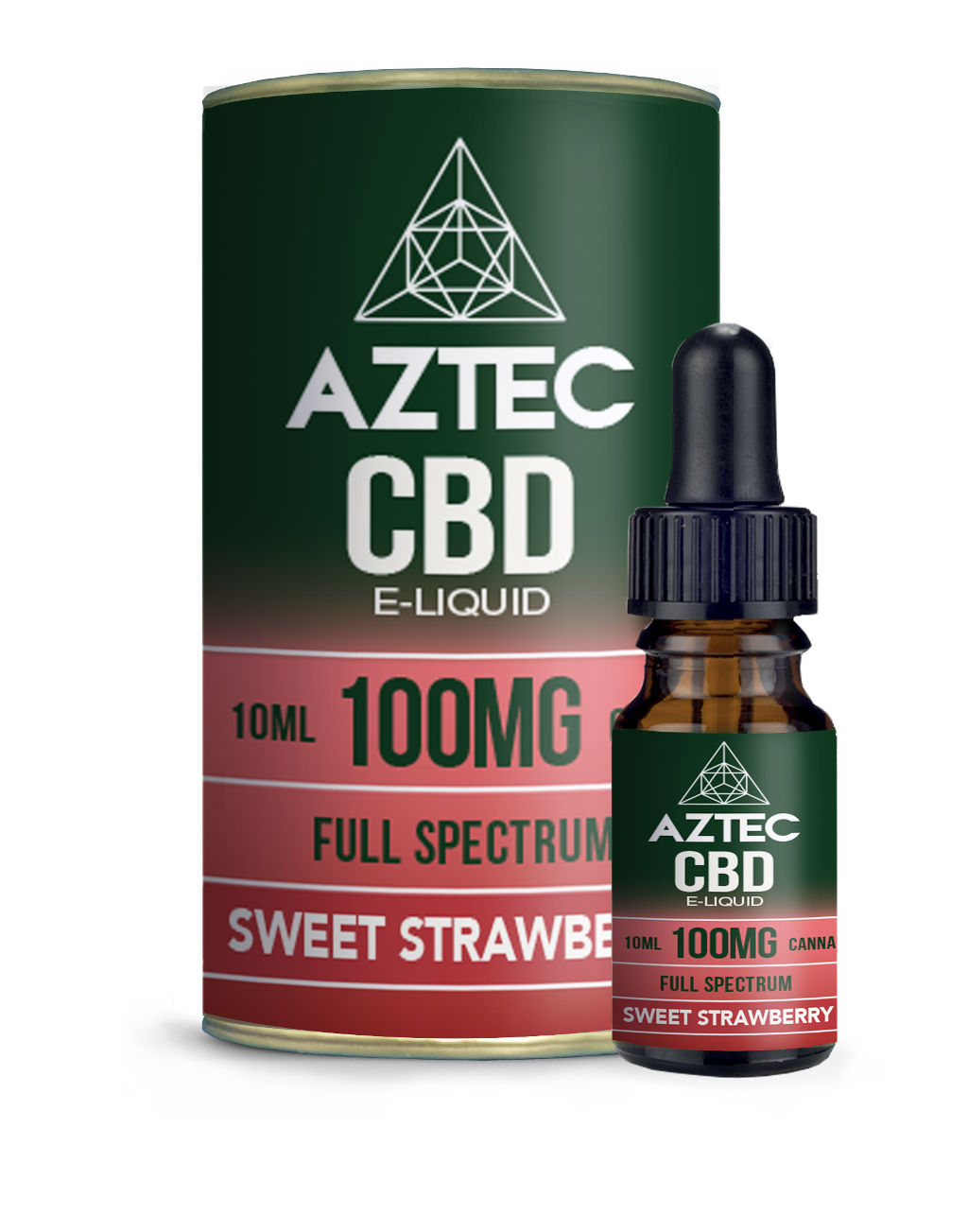 Aztec CBD Strawberry E-Liquid 10ml